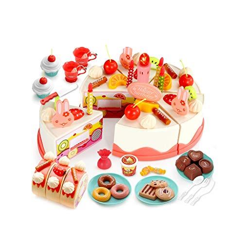 kids toys LHY Juego de juguetes de cocina, utensilios de cocina, accesorios de cocina de juguete, simulación de cocina y cocina simulación de utensilios de cocina (82 piezas) moda