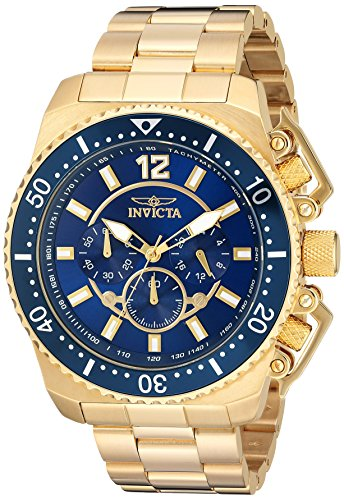 Invicta Men's Pro Diver Quartz Watch with Stainless-Steel Strap, Gold, 24 (Model: 21954)