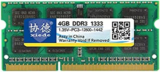 WTYD Computer Accessories X095 DDR3L 1333MHz 4GB 1.35V General Full Compatibility Memory RAM Module for Laptop Used for Co...
