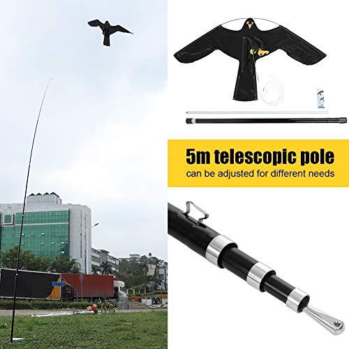 Outbit Vogelschutzmittel - 1 PC Scarer Flying Hawk Kite mit 5m  Teleskopstange, ausziehbarer Vogelschutz, Flying Bird Kite Scarer.