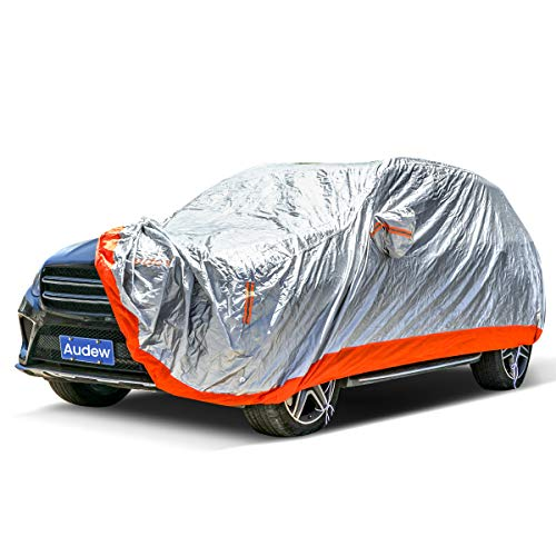 """Audew Car Cover SUV Protection Cover Car Cover Waterproof All Weather Windproof/Dustproof/Scratch Resistant Outdoor Uv Protection with Adjustable Straps/Reflective Strips Fits 180""""-190"""" SUV"""