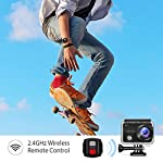 VanTop Moment 3 4K Action Camera w/Gopro Compatible Carrying Case,Remote Control,16MP Sony Sensor,30M Waterproof Camera… 14 【Stunning 4K Technique & Superb Sony Sensor】Optional 4K@30fps, 2.7K@30fps,1080P@60fps,720P@120fps resolutions, high sensitive Sony sensor with improved image focusing, processing speeds. Moment 3 action camera empowers you to capture any memorable moment without any compromise. Stunning 4K video and 16MP photos in Single, Burst and Time Lapse modes. 【Irresistible & Indispensable Accessories】Exclusively customized carrying case for the action camera and accessories: compatible with all Gopro cameras including Gopro HERO 7, Gopro HERO 6. Compact case to keep your action camera-Moment3 and accessories safe, protected and organized. Selected 21 gopro compatible accessories awaits your discovery. (SD Card excluded) 【170°Ultra-Wide Lens & Multiple Modes】Discover a big big world your eyes can reach with the intergraded 170 degrees ultra-wide lens. Burst Shooting, loop recording makes it possible to find the perfect moment afterwards. Time-lapse and slow motion exceed human vision with surprising fun.