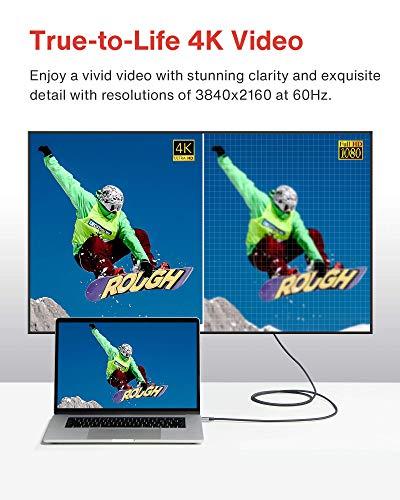 iVANKY USB C auf DisplayPort Kabel 3M, 4K@60Hz Typ C auf DP Kabel [Thunderbolt 3 kompatibel], für MacBook Pro/Air 2019/2018, iPad Pro 2018, Surface Book 2, Huawei, Mate, Galaxy Note und mehr