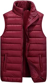 Men's Classic Sleeveless Stand Collar Coat Quilted Puffer Down Vest Outwear