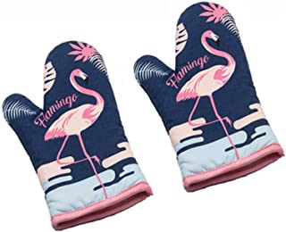 Sohapy Cotton Oven Mitt Kitchen Heat Resistant and Machine Washable for Cooking Baking Grilling and BBQ Decorative Flaming...