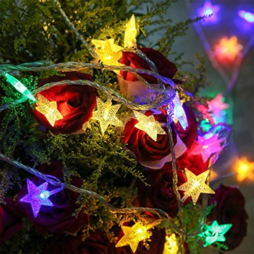 ZLININ Pilas Clip 20 fotos de la estrella LED luz colgante de cuerda Peg Hada for la boda de bricolaje Ins decoración 2,5M Fairytale Luz