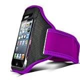 N4U Online PURPLE SPORTS ARMBAND STRAP POUCH CASE COVER FOR