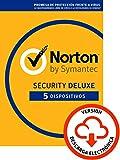 Norton Security | Deluxe | 5 Dispositivo | 1 Año | PC/Mac | Código de activación enviado por email