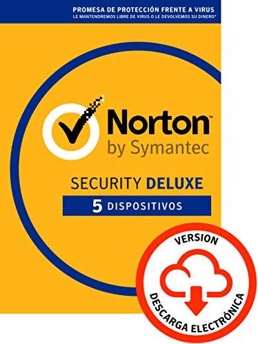 Norton Security | Deluxe | 5 Dispositivo | 1 Año | PC Mac | Código de activación enviado por email