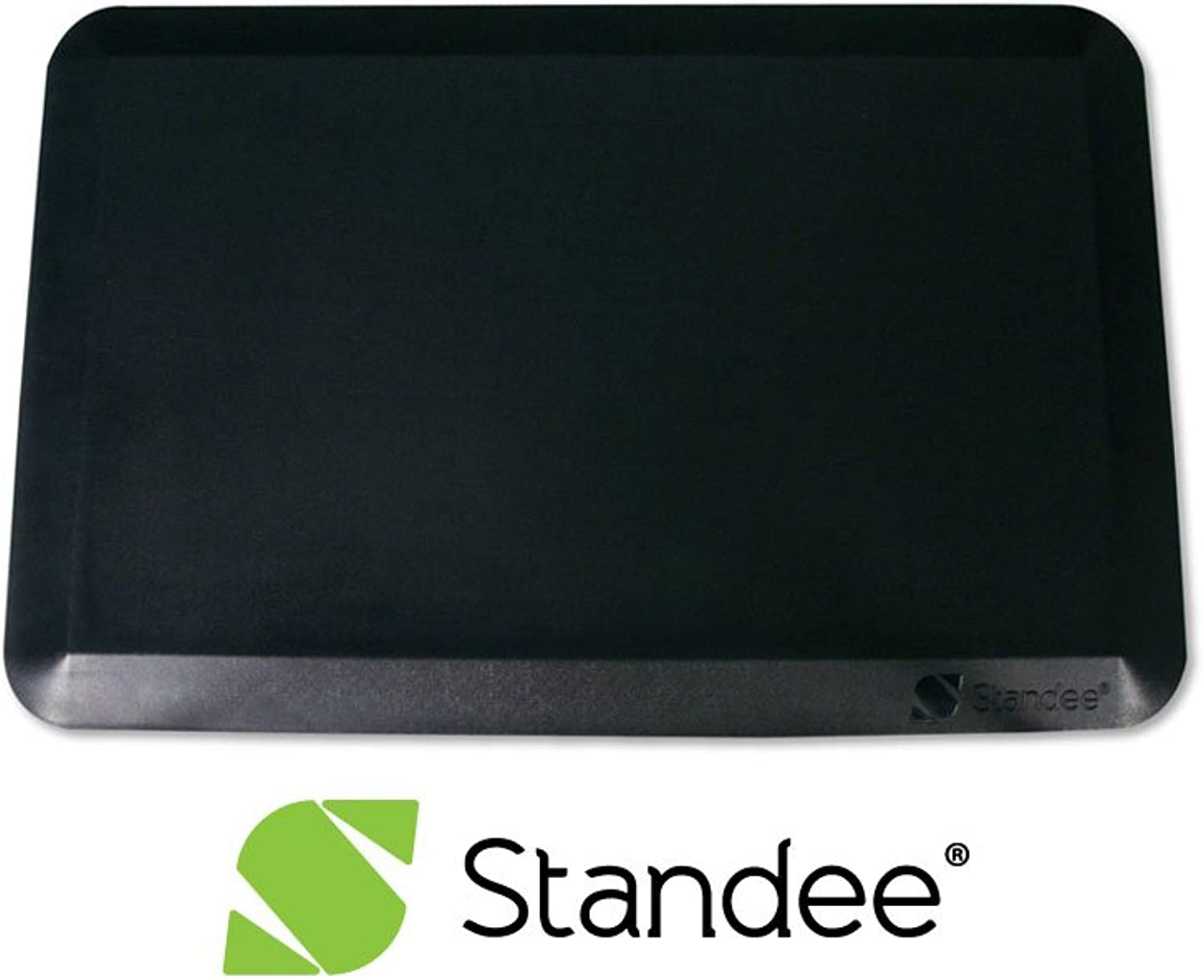 Standee Anti Fatigue Standing Mat, Extra Thick for Comfort, 20 x 30 x 7 8 in. - Designed for Office and Kitchen, Black