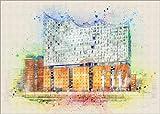 Poster 100 x 70 cm: Hamburg Elbphilharmonie von Peter Roder