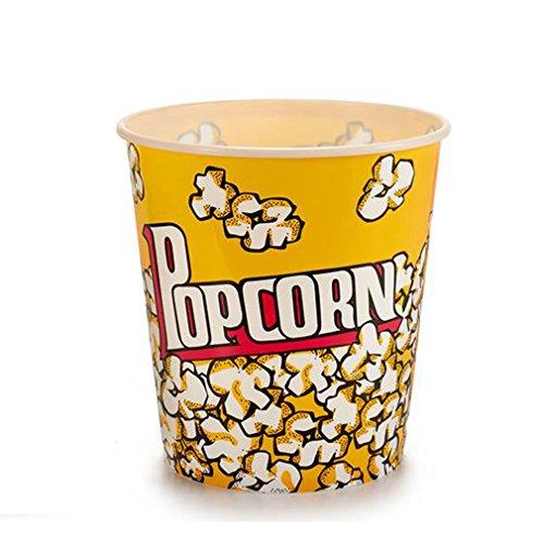 Arteregal Eimer Popcorn, Gelb, 18.0x 17.0x 17.0cm, 6Stück