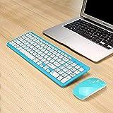 MLD-568 PCデスクトップラップトップクラシックオフィスセット用ウルトラスリムブラックミニワイヤレスキーボードおよびマウスコンボキット