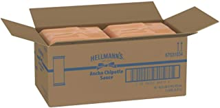 Hellmann's Real Ancho Chipotle Sauce Pouch Vegetarian, Gluten Free, No Artificial Colors or Flavors, 16 oz, Pack of 12