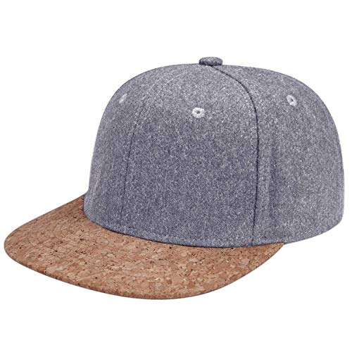 LIVACASA Basecap Snapback Herren Kappe Unisex Verstrellbar Baseball Cap für Damen Baseballkappe Sonnenschutz Täglich Cap Cappy in 6 Farben (Hellgrau+Braun, One Size)