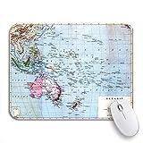 Gaming mouse pad die bunte karte der ozeanien inseln eingekreist old vintage rutschfeste gummi backing mousepad für notebooks computer mausmatten