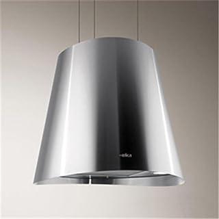 Elica Juno - Cappa da cucina sospesa in acciaio inox, Ø 50 cm