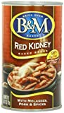 B & M Baked Beans, Red Kidney, 28 Ounce (Pack of 12)