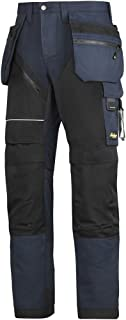 """Snickers 62029504100 Size 100 """"RuffWork"""" Work Trousers - Navy Blue/Black"""
