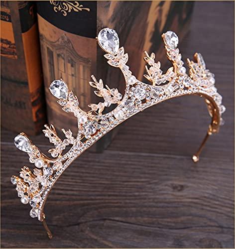 Jovono Coronas de boda y tiaras para adultos corona nupcial Princesa Party...