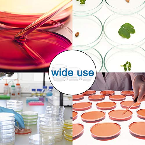 30Pack 90 x 15mm Plastic Petri Dishes,Culture Dishes with Lids for School,Laboratories,Clear Petri Dish for Themed Party