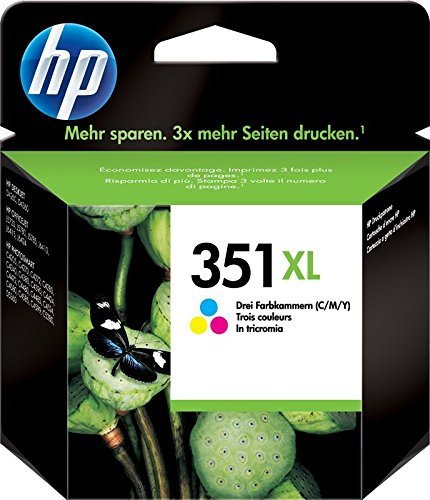 HP 351 XL CB338EE, Cartuccia Originale, da 580 Pagine, Compatibile con Stampanti a Getto di Inchiostro HP Deskjet D4260, D4300, Photosmart C5280, C4200, Officejet J5780, J5730, Tricromia