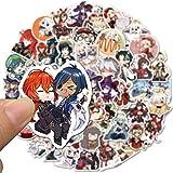 Wuhuayu 50 Juegos Populares Yuanshen Dibujos Animados Anime Graffiti Pegatinas Maleta Carretilla Caja Portátil Pegatinas Pegatinas