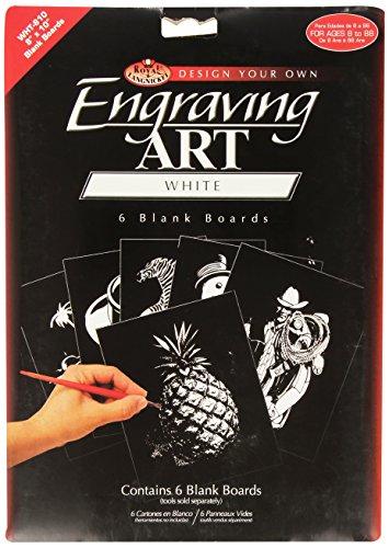Royal & Langnickel WHT-810 - Engraving Art/Kratzbilder, 8 x 10 Zoll, Blank, 6 Stück, weiß