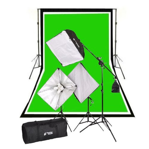 Cowboy studio newcb + bwg13+ VL-9004s–B6fotografia Video Stuido da 2000Watt Softbox luce continua Boom Kit Completo