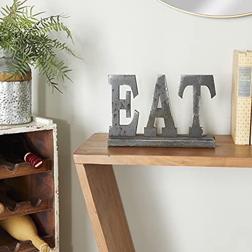 Deco 79 97296 Wood Eat Decorative Sign, 12' x 8'