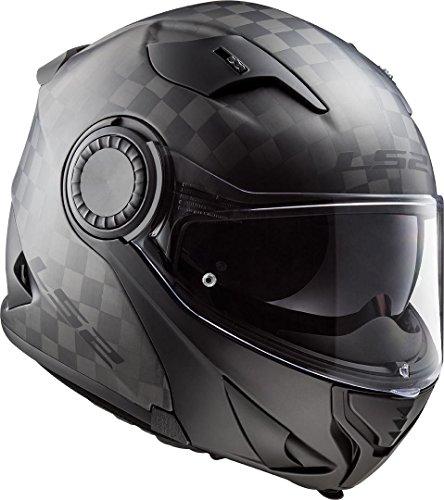LS2 Motorradhelm FF313 VORTEX MATT CARBON, Schwarz, L, 503131098L
