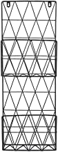 Magazine Racks Household Wall-mounted Bookshelf Wrought Iron Black Wall Hanging 2 Layer Magazine Rack Display Shelf 26x8x7...