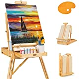 Best Choice Products Portable Wooden Folding French Easel Adjustable Sketch Box Artist Tripod for Painting, Drawing, Sketching w/Drawer, Pallet, Handle