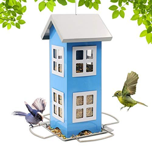 Goodeco House Bird Feeders for Outside,Weatherproof Country House Design...