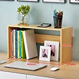 AOLI Expandable Desk Storage Organizer,Freestanding Space Saving Easy Assembly Literature Holder Accessories Display Rack-R 60X17X35Cm(24X7X14Inch),S,40 * 17 * 30cm(16 * 7 * 12inch)