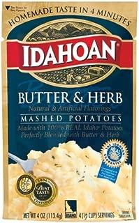 Idahoan Butter & Herb Mashed Potatoes 4 oz (Pack of 12)