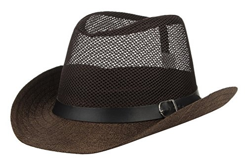 GEMVIE Sombrero Cowboy de Protector Solar de Verano con Malla para Hom