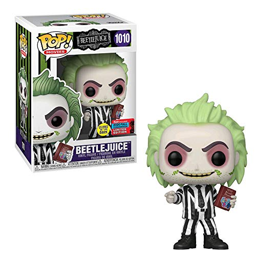 Funko Pop! NYCC 2020 Beetlejuice with Book of recetly Deceassed Limited Edition - Bollino Shared Glow