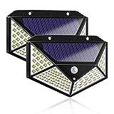 Luz Solar de Exterior, VOICEPTT 2 Mejoradas Paquetes Luces Solares 100 LED,...