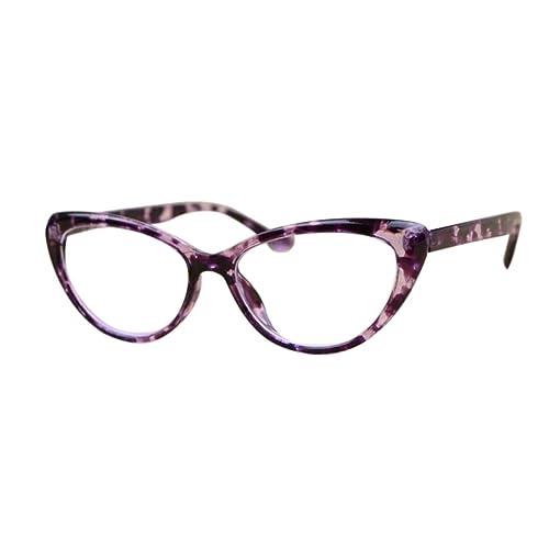 2509b0f2a32 Inlefen Vintage Cat Eye Reading Glasses Full Frame Readers for Women  Strength  +1.0 +