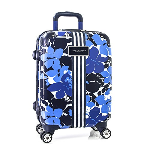 Tommy Hilfiger Floral Hardside 21', Carry-on Luggage, Blue