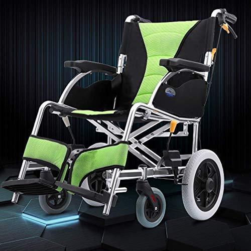 YEESEU. Leichte faltrollstuhl Driving Medical Erwachsene Medizinisches Material, Aluminium-Legierung Tragbarer Rollstuhl Alte Wagen, ältere Reisende, Flugzeug Rädchen Kleine Fj