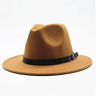 Hat Women Men Wool Fedora Hat With Leather Belt Party Church Hat For Lady Fascinator Hat Autumn Casual Wild Hat Size 56-58CM Fashion Hat