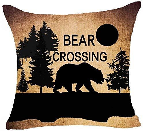 Wildlife - Federa per cuscino in cotone con chiusura lampo nascosta, 45,7 x 45,7 cm