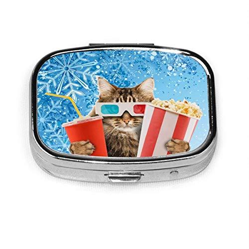Funny Cat - Pastillero para gafas de sol, diseño de gato