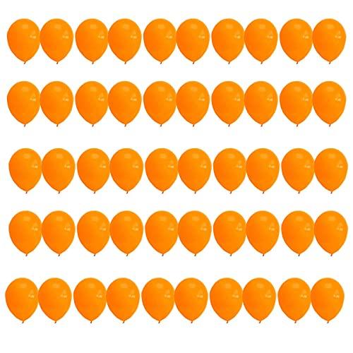 50 Piezas Multicolores Globos Naranjas Globos de Látex 30cm 12 Pulgadas Decohelium...