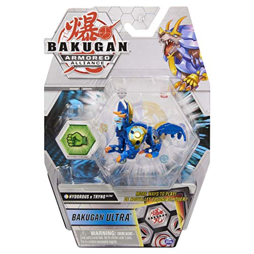 Bakugan Ultra Fusion, Aquos Aurelus Hydorous x Trhyno, - 3-inch Tall Collectible Transforming Creature, for Ages 6 and Up
