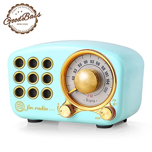 Retro Bluetooth Speaker, Vintage Radio-Greadio FM Radio with Old Fashioned Classic Style, Strong...