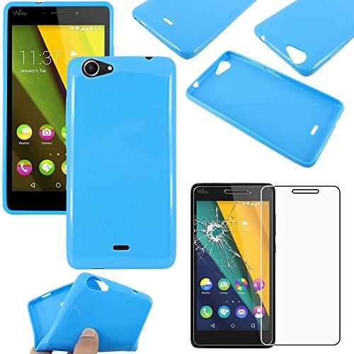 ebestStar - kompatibel mit Wiko Pulp Fab 4G Hülle TPU S-line Style Silikongel Handyhülle, Schutzhülle Case Cover, Blau + Panzerglas Schutzfolie [Phone: 155.4 x 79.3 x 8.5mm, 5.5'']
