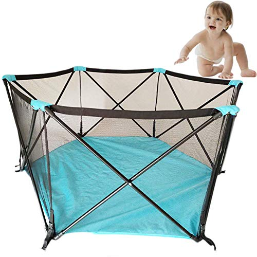 """HEWEI Baby Playpen Ball Pit Tent 59""""Diameter with Storage Bag 6 Panel Foldable and Portable Playground for Baby Toddlers for Toddlers Toddlers Kids Indoor Outdoor"""